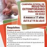 LANZAN CAMPAÑA EXTEMPORÁNEA DE REGISTRO CIVIL.