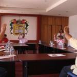 PRESIDENTE MUNICIPAL DE CALVILLO, PRESENTA LOS FORMATOS DE ENTREGA-RECEPCION A LOS REGIDORES.