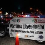 Inicia el operativo estatal de alcoholimetría en el municipio de San Francisco de los Romos