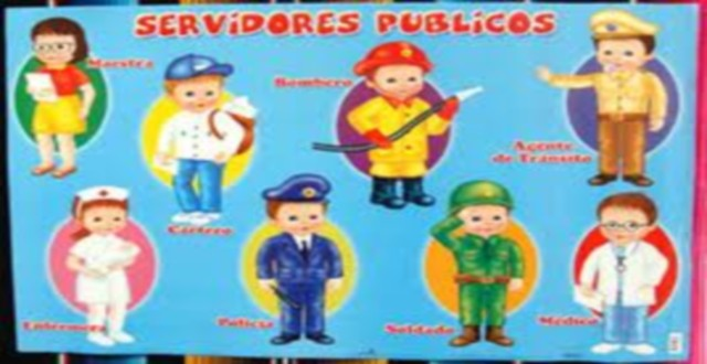 Dibujos de servidores publicos para colorear