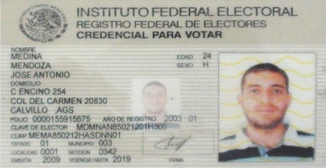 CREDENCIAL IFE - José Antonio Medina Mendoza