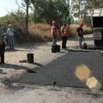 Supervisan Obras de Rehabilitación  de la Carretera Agostaderito-Tanque de los Jiménez