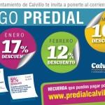 SE ANUNCIAN DESCUENTOS DE PREDIAL PARA LOS CIUDADANOS DE CALVILLO