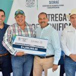 ENTREGA EL GOBERNADOR 17.3 MDP PARA LA  TECNIFICACIÓN DE UNIDADES DE RIEGO