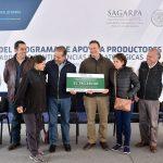 Entregan apoyos por 9.8 mdp a 630 beneficiarios para la reactivación de 2 mil 130 hectáreas siniestradas