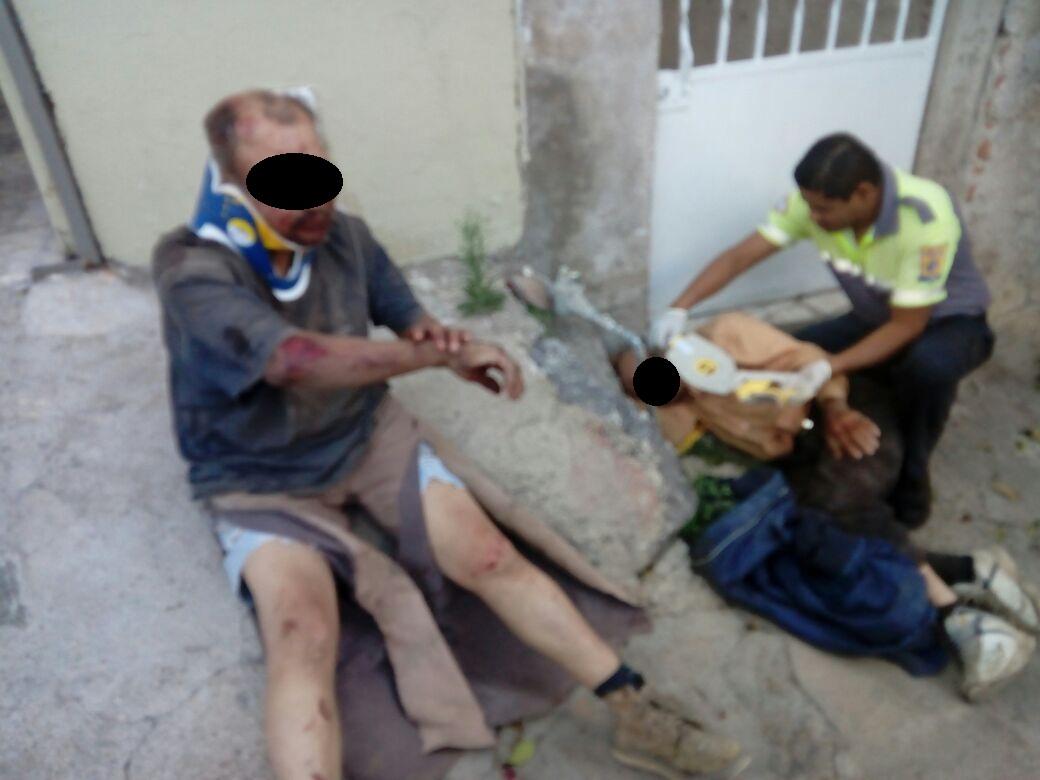 CHOQUE Y POSTERIOR VOLCADURA DEJA DOS LESIONADOS EN LA COMUNIDAD DE MALPASO