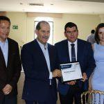 El gobernador Martín Orozco entregó a Calvillo el reconocimiento como primer lugar en la Olimpiags 2017
