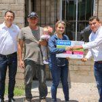 El gobierno municipal de Calvillo, CONAVI e IVSOP entregaron 22 Unidades Básicas de Vivienda