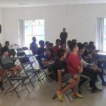 Alumnos de Escuelas de Desarrollo Deportivo de Calvillo reciben pláticas para prevenir adicciones