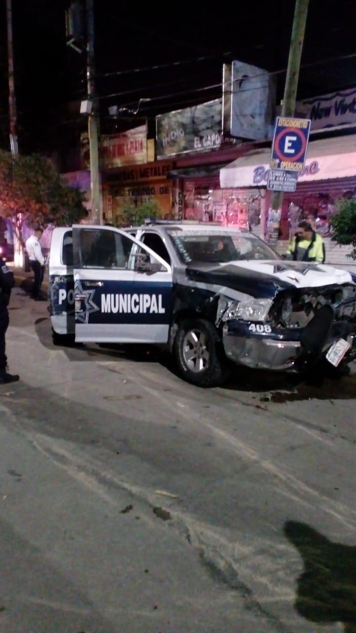 Se accidentan policías de Calvillo en Aguascalientes