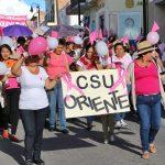 En Calvillo, caminata con motivo del Día Internacional de la Lucha Contra el Cáncer de Mama