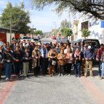 Adán Valdivia López realizó un recorrido de supervisión e inauguración de obras