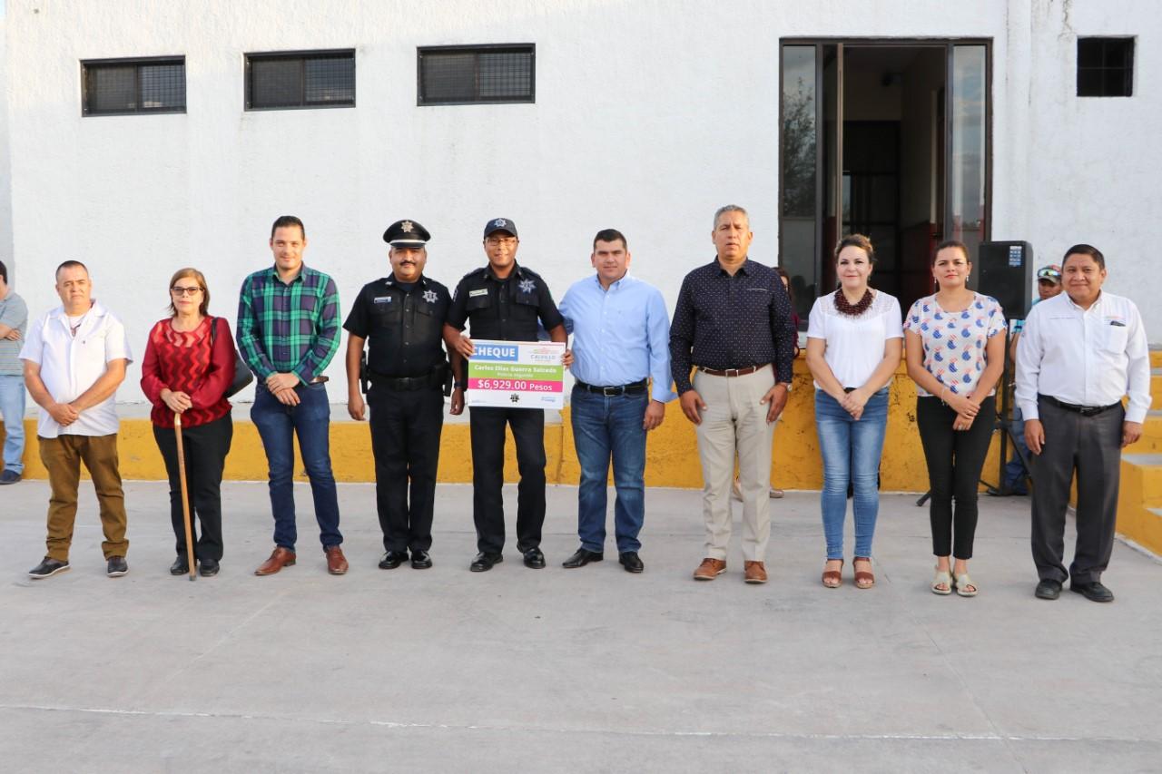 Policías de Calvillo recibieron homologación salarial retroactiva con recursos de FORTASEG