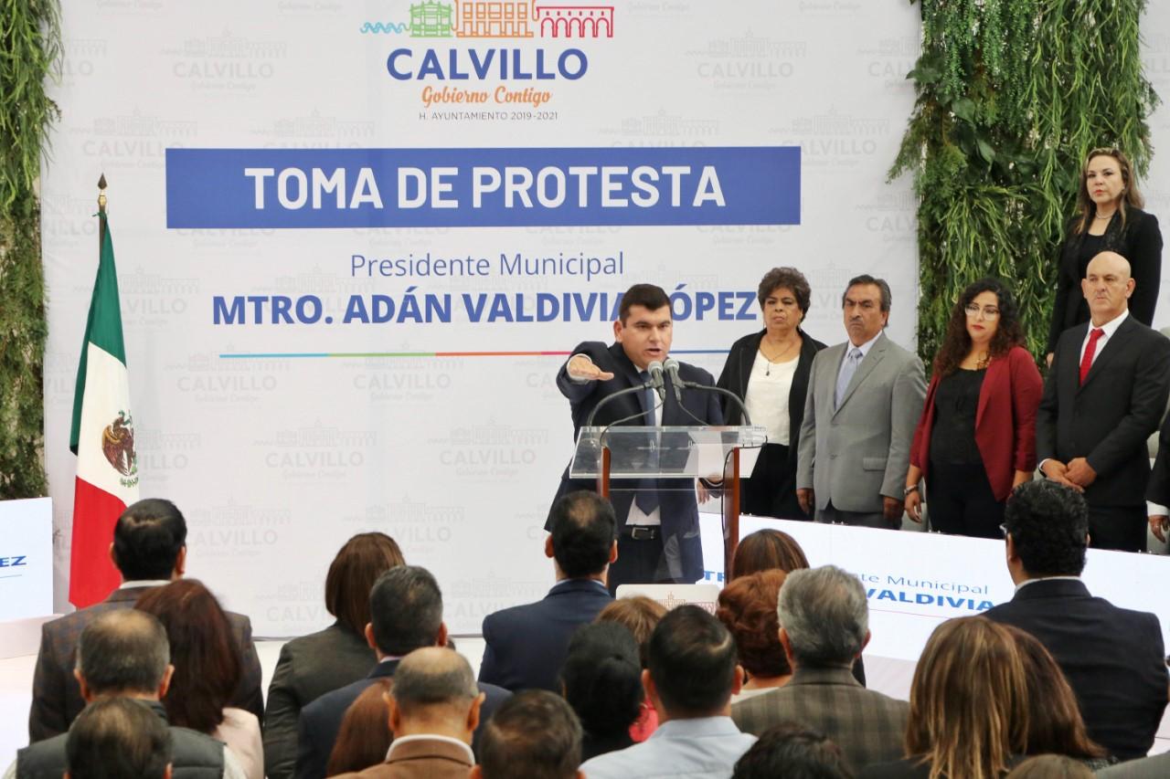 El Honorable Ayuntamiento 2019-2021 del Municipio de Calvillo rindió la protesta de Ley