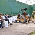 Gobierno del Estado y Gobierno Municipal de Calvillo impulsan la construcción de infraestructura deportiva, carretera y de fortalecimiento al turismo