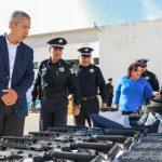 Se entregaron dos radiopatrullas y equipamiento a Seguridad Pública de Calvillo