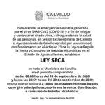 Aprobó el Ayuntamiento de Calvillo Ley Seca del 15 al 20 de septiembre