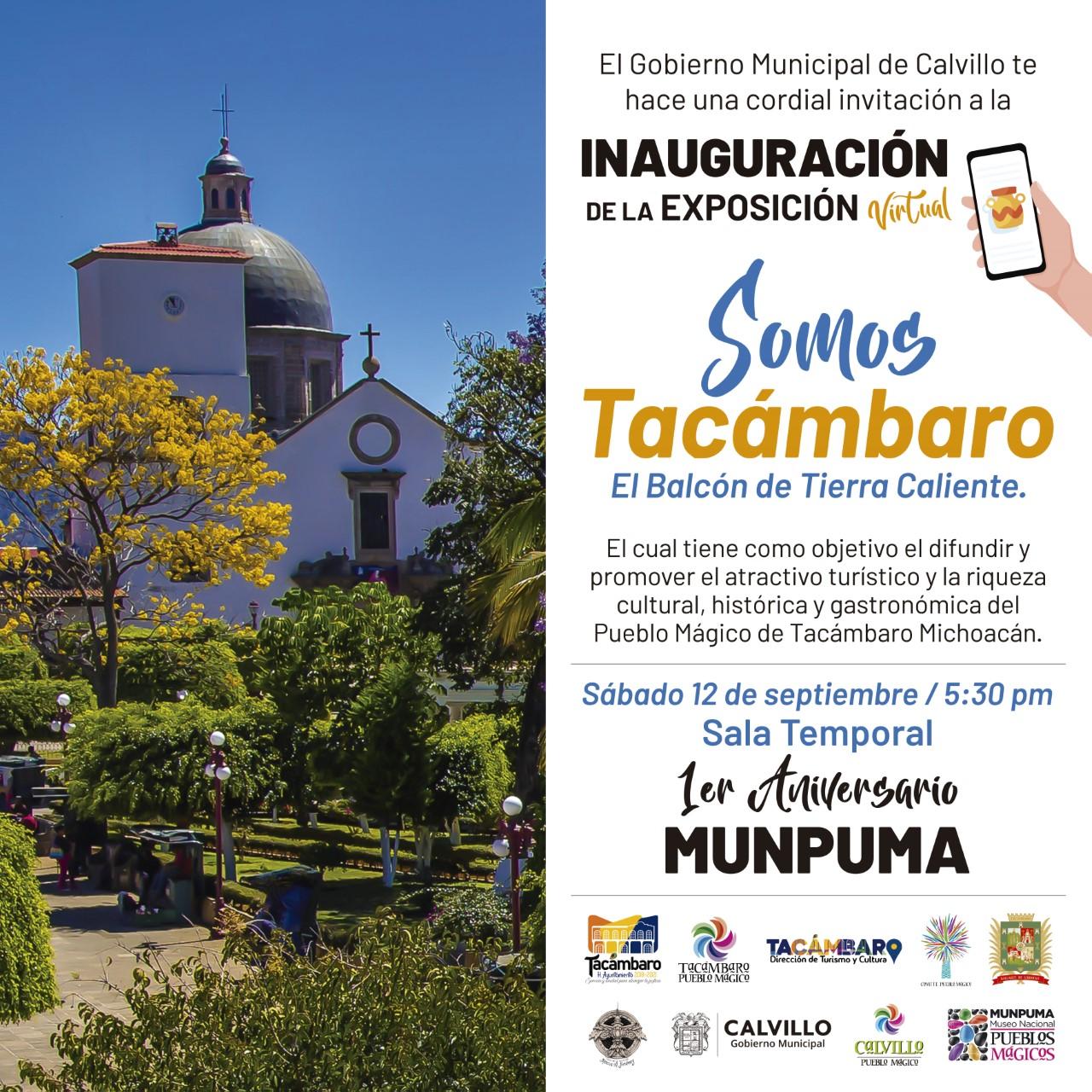 Presencia de Tacámbaro Pueblo Mágico en el MUNPUMA y en Calvillo Pueblo Mágico
